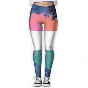 NUNOFOG Pantalones de Yoga para Mujer, diseño de Bandera de Costa de Marfil, Blanco, S