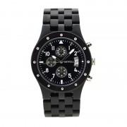 Bewell Chronograph Ebony Wood Watch