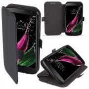 Maxy Custodia S-Pocket Book Orizzontale Silicone Flip Case Per Lg K8 (2018) K9 Black