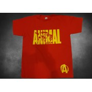Animal 7 T-Shirt Red New