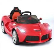 Auto A Bateria La Ferrari Amarillo Con Radio Control Rastar