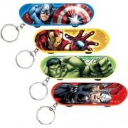 Avengers Skateboard Keychain 4 Assorted Keychains