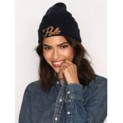 Polo Ralph Lauren Polo Beanie Wool Hat Mössor Navy/Guld