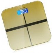 Rorian Personal Body Weight Machine Digital 8mm Toughened Glass Golden/Blue/Red Multi Color SF180 Weighing Scale(Golden)