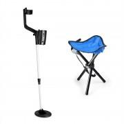 DURAMAXX Basic Blue, комплект за търсене на съкровища, детектор за метал + къмпинг стол, 16,5 см сонда (PL-KGS-BB_v2)