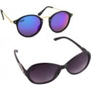 Criba Cat-eye, Oval Sunglasses(Violet, Blue)