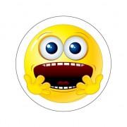 Merkloos Bange Smiley stickers type 6