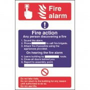 Nisbets Fire Alarm / Fire Action Sign