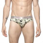 Parke & Ronen Camo Low Rise Brief Underwear Khaki/Green U103