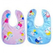 Tahiro MultiColour Cotton Printed Bibs For Kids - Pack Of 2
