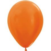 """Sempertex """"Metallic Pearl Orange Latex Round 5in/12.5cm"""""""