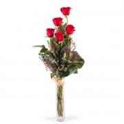 Interflora 5 Rosas Vermelhas de Pé Longo Interflora