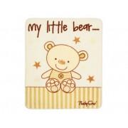 Babyono - Одеало сатен плюш бежова мечка 80/100