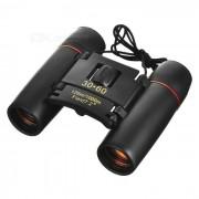 CTSmart 8x 21mm de pesca al aire libre pesca de la ampliacion de Blue Film HD binocular Telescopio - Negro