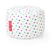 Style Homez Round Cotton Canvas Star Printed Bean Bag Ottoman Stool Large with Beans Multi Color