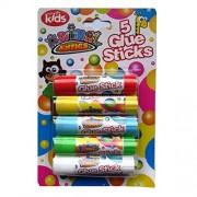 Coloured Childrens Glue Sticks - Pack of 5 Colours - Animal Antics