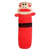 Chocozone 55cm Naughty but Cute Monkey Bolster Pillow Animal Cushions Round for Living Room and Kids Rooms Home Décor