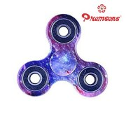 Premsons Fidget Spinner 608 Four Bearing Water Transfer Printed Premium Quality ABS Material Hand Spinner Tri-Spinner Ultra Speed Toy - Starry Sky