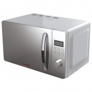 Cuptor cu microunde Albatros MWA 20D3S, 700 W, 20 L, 5 nivele de putere, Display, Timer, 8 programe, Semnal sonor, Argintiu/Finisaj oglinda