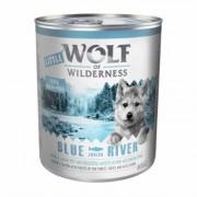 Little Wolf of Wilderness Junior 12 x 800 g - Blue River Junior - Pollo & Salmone