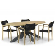 Lifestyle Garden Furniture Lifestyle Dallas/Brookline 200 cm dining tuinset 5-delig