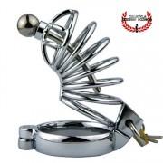 Jaula de Castidad 9 cm Metal BDSM Fetish Con Plug o Sonda para Uretra Jaula para pene