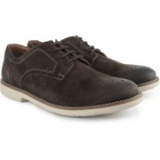 Clarks Raspin Walk Brown Sde lace up For Men(Brown)