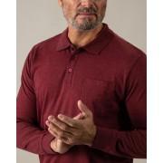 Gentlemen Selection Poloshirt mit Jacquardkragen merlot male 52