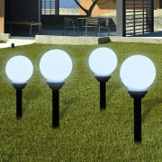 vidaXL Garden Path Solar Ball Light LED 15cm 4pcs with Ground Spike