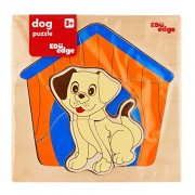 Eduedge Dog Puzzle• Printed on high quality plywood. • Coated with safe paints for children. • Smooth edges and corners . A tray with two layer puzzle.A very attractive & fun toy. Non-toxic eco friendly product