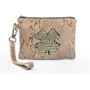 Sophia Visconti Dolly/Python Khaki Cosmetic Bag(Khaki)
