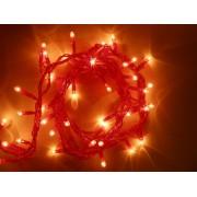 Beltéri 40 LED Halloweeni fényfüzér világítás 3,2 m narancssárga