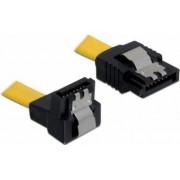 Cablu Date Delock Sata 3 la Sata 3 30 cm Galben