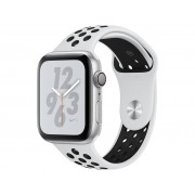 Nike Умные часы APPLE Watch Nike+ Series 4 40mm Silver Aluminium Case with Pure Platinum-Black Nike Sport Band MU6H2RU/A