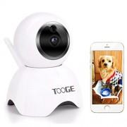 TOOGE Cámara para Mascotas, cámara para Perro FHD Monitor para Mascotas, cámara de visión Nocturna de 2 vías de Audio y detección de Movimiento (actualizado)