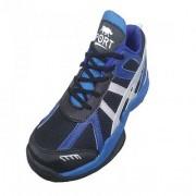 Port Men's Blue Rocket Badminton Shoes