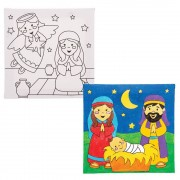 Baker Ross Nativity Colour-in Canvases (Pack of 3)