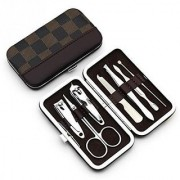 Universe 7 in 1 Pedicure Manicure Home Utility Travel Accessories Kit Set - Color may vary