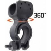 Suport de lanterna pentru bicicleta diametru prindere 2.5 - 3.3 cm negru