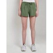 TOM TAILOR DENIM Ponte Shorts in Relaxed Fit, Dames, dull moss green, XS