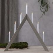 Arrow candleholder, pointed, 7-bulb, grey