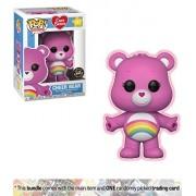Cheer Bear (Chase Edition): Funko Pop Animation X Care Bears Vinyl Figure + 1 American Cartoon Themed Trading Card Bundle [#351 / 26698A]