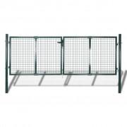 Sonata Градинска оградна порта, 289x125 см/306x175 см, зелена стомана
