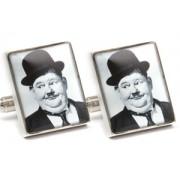 Mousie Bean Photo Cufflinks Laurel & Hardy 1033-1