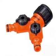 Conector robinet Stocker cu 2 iesiri