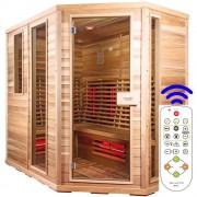 Luxway Sauna Relax Lux-höger cederträ