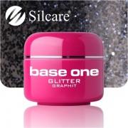 Gel Color Glitter Graphit Base One - 5ml