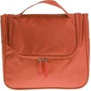 Swadec Waterproof Cosmetic Wash Organizer Hanging Storage Bag - Orange Travel Toiletry Kit(Orange)