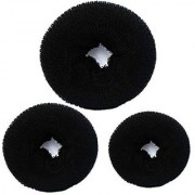 GaDinStylo Pack of 3 Sizes Black Hair Donuts / Bun Maker