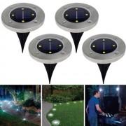 LED-es süllyeszthető, lépésálló szolár lámpa 4 db/csomag